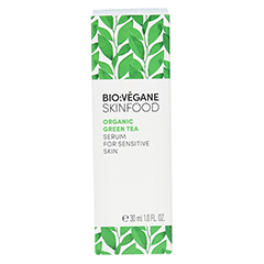 BIO VEGANE Sensitive green Tea Serum 30 Milliliter - Rückseite
