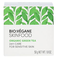 BIO VEGANE Sensitive green Tea 24 h Pflege Creme 50 Milliliter - Rückseite