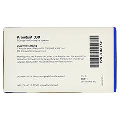 ARANDISIT D 30 Ampullen 8x1 Milliliter N1 - Rückseite