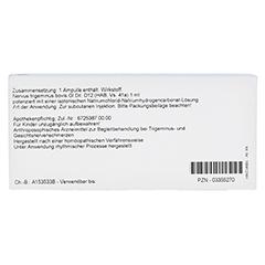 NERVUS TRIGEMINUS GL D 12 Ampullen 10x1 Milliliter N1 - Rückseite