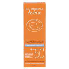 AVENE SunSitive Sonnenemulsion SPF 50+ 50 Milliliter - Rückseite