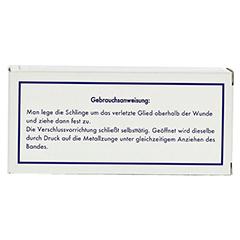 ARTERIENABBINDER 2,5x80 cm 101071 1 Stück - Rückseite