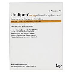 UNILIPON 600 Infusionslösungskonzentrat 1x5 Stück N1 - Rückseite