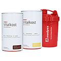 medpex Vitalkost Doppelpack Vanille u. Schokolade + medpex Shaker 1 Stück