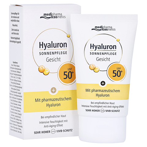 medipharma Hyaluron Sonnenpflege Gesicht LSF 50+ 50 Milliliter