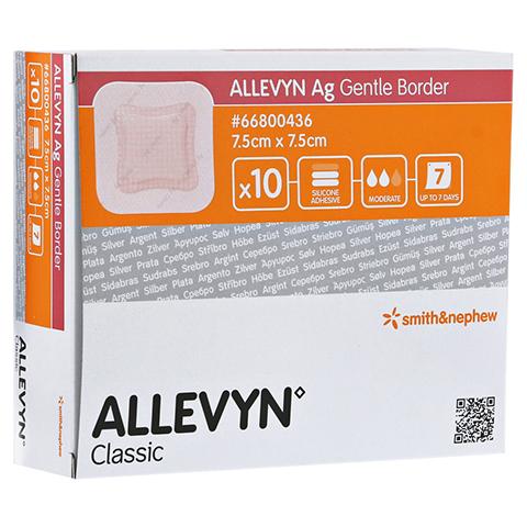 ALLEVYN Ag Gentle Border 7,5x7,5 cm Wundverband 10 Stück
