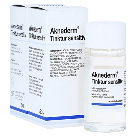 AKNEDERM Tinktur sensitiv 2x50 Milliliter