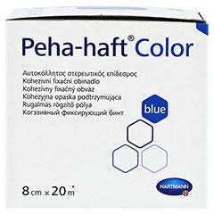PEHA-HAFT Color Fixierbinde 8 cmx20 m blau 1 Stück - Linke Seite