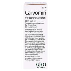 Carvomin Verdauungstropfen 20 Milliliter - Rechte Seite