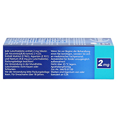 Nicotinell 2mg Mint 36 Stück - Linke Seite