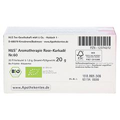 H&S Bio Rose-Karkade Aromatherapie Filterbeutel 20 Stück - Unterseite