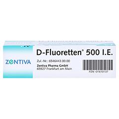 D-Fluoretten 500I.E. 90 Stück N3 - Unterseite