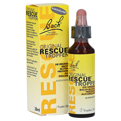 BACH ORIGINAL Rescue Tropfen alkoholfrei 20 Milliliter