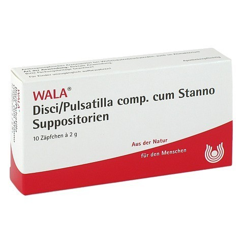 DISCI/Pulsatilla comp.cum Stanno Suppositorien 10x2 Gramm N1
