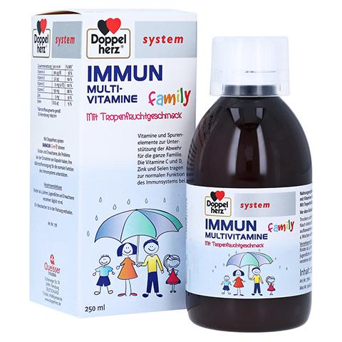 Doppelherz system Immun Family Multi-Vitamine mit Tropenfruchtgeschmack 250 Milliliter