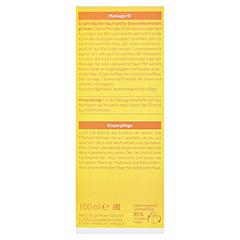 Weleda Calendula Massageöl 100 Milliliter - Rückseite
