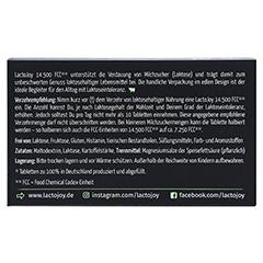 LACTOJOY 14.500 FCC Tabletten 80 Stück - Rückseite