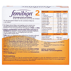 FEMIBION 2 Schwangerschaft+Stillzeit ohne Jod Kpg. 2x60 Stück - Rückseite