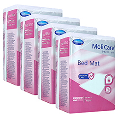 MOLICARE Premium Bed Mat 7 Tropfen 60x90 cm 4x30 Stück