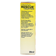 BACH ORIGINAL Rescue Tropfen alkoholfrei 20 Milliliter - Linke Seite