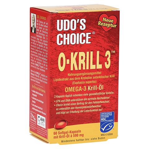 O KRILL3 Omega-3 Krill-Öl Kapseln 60 Stück