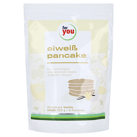 FOR YOU eiweiß pancakes Vanille Pulver 600 Gramm