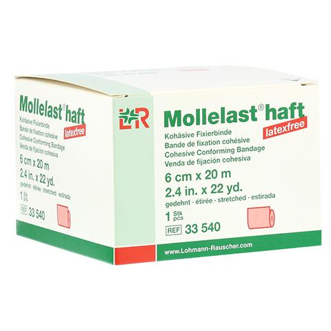 MOLLELAST haft Binden latexfrei 6 cmx20 m rot 1 Stück
