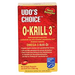 O KRILL3 Omega-3 Krill-Öl Kapseln 60 Stück - Vorderseite