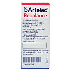 ARTELAC Rebalance Augentropfen 10 Milliliter - Vorderseite