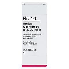 NR.10 Natrium sulfuricum D 6 spag.Glückselig 100 Milliliter N2 - Vorderseite