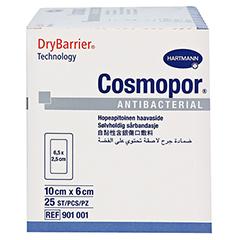 COSMOPOR Antibacterial 6x10 cm 25 Stück - Linke Seite