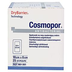 COSMOPOR Antibacterial 6x10 cm 25 Stück - Rechte Seite