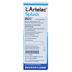 ARTELAC Splash MDO Augentropfen 2x10 Milliliter - Rückseite