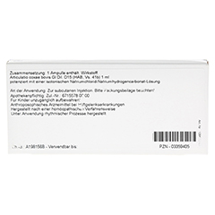 ARTICULATIO coxae GL D 15 Ampullen 10x1 Milliliter N1 - Rückseite