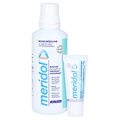MERIDOL Mundspül Lösung + gratis meridol Zahnpasta 20ml 400 Milliliter