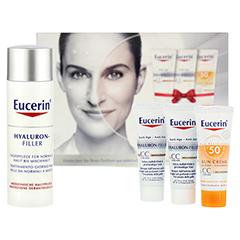 EUCERIN Anti Age Hyaluron Filler Tag + gratis Eucerin Geschenkbox (CC Cream hell & mittel + Sun Creme)