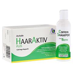 HAARAKTIV Plus Vegi Kapseln + gratis Coffein Shampoo