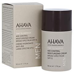 AHAVA Men's Age Control Moisturizing Cream Broad Spectrum SPF15 50 Milliliter