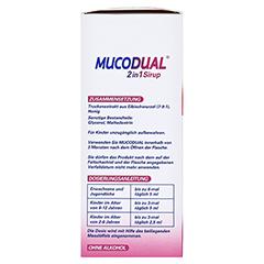 Mucodual 2in1 Sirup 100 Milliliter - Linke Seite