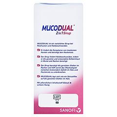 Mucodual 2in1 Sirup 100 Milliliter - Rückseite