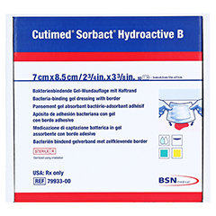 CUTIMED Sorbact Hydroactive B Gel-V.7x8,5 cm haft. 10 Stück - Vorderseite