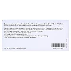 VENTRICULUS GL D 15 Ampullen 10x1 Milliliter N1 - Rückseite