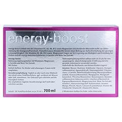 ENERGY-BOOST Orthoexpert Trinkampullen 28x25 Milliliter - Rückseite