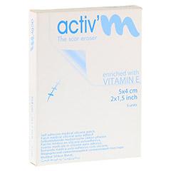 ACTIV'M Narbenpflaster mit Vitamin E 4x5 cm 5 Stück