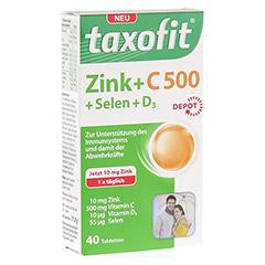 TAXOFIT Zink+C 500+Selen+D3 Tabletten 40 Stück