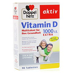 DOPPELHERZ Vitamin D 1.000 I.E. EXTRA Tabletten 90 Stück