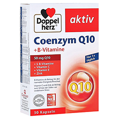 DOPPELHERZ Coenzym Q10+B Vitamine Kapseln 30 Stück