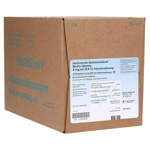 ISOTONISCHE NaCl BC 9 mg/ml 0,9% Inf.-L.Plastikfl. 10x250 Milliliter N2