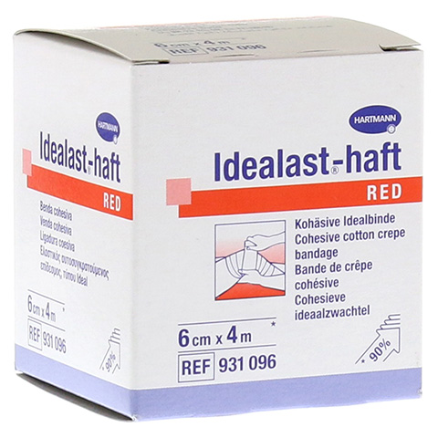 IDEALAST-haft color Binde 6 cmx4 m rot 1 Stück