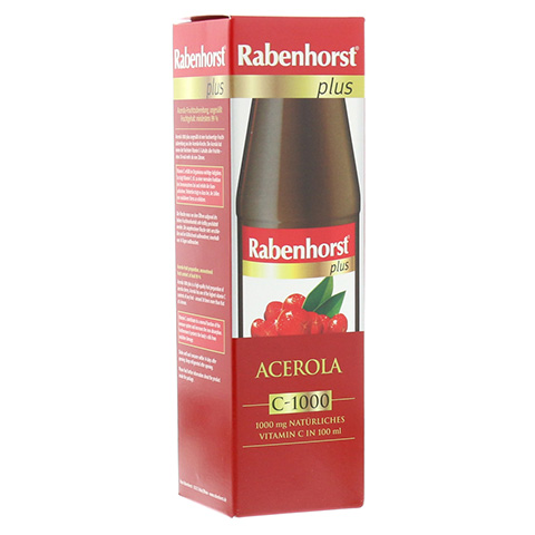RABENHORST Acerola plus C 1000 Saft ungesüßt 450 Milliliter